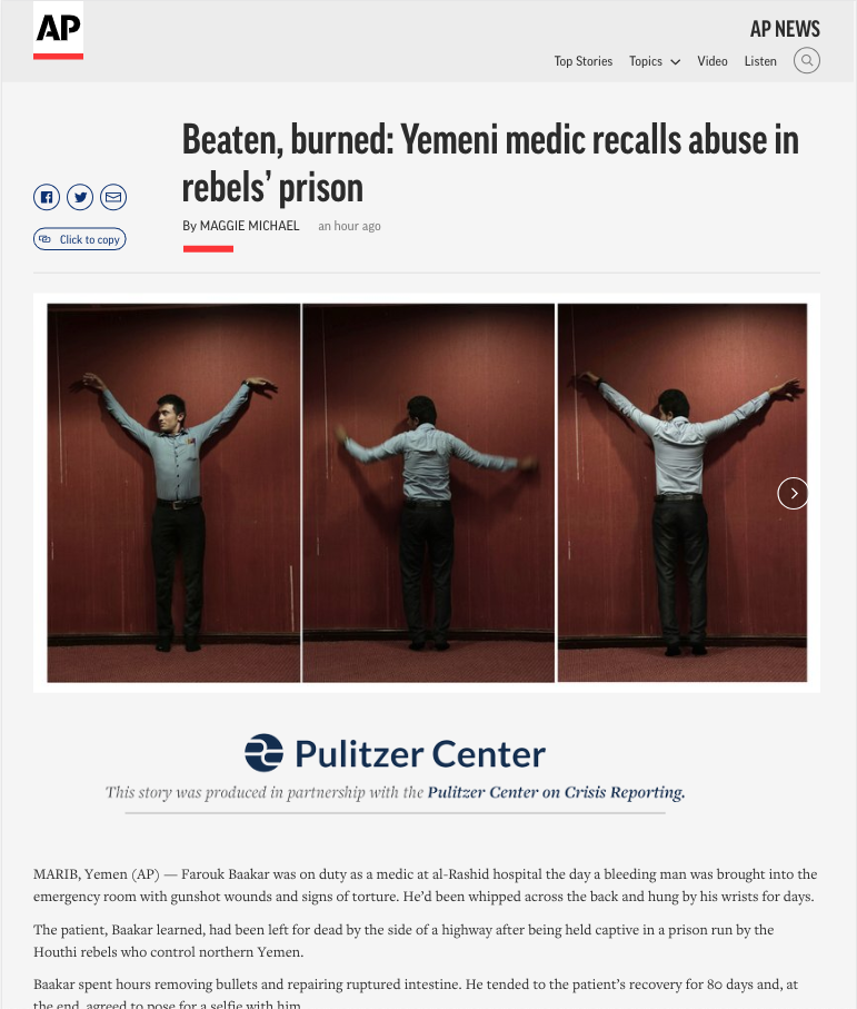 Associated Press credit for Pulitzer Center support.